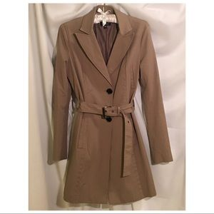 BEBE trench coat with belt size small